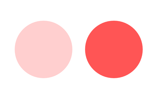 色の明度の違い