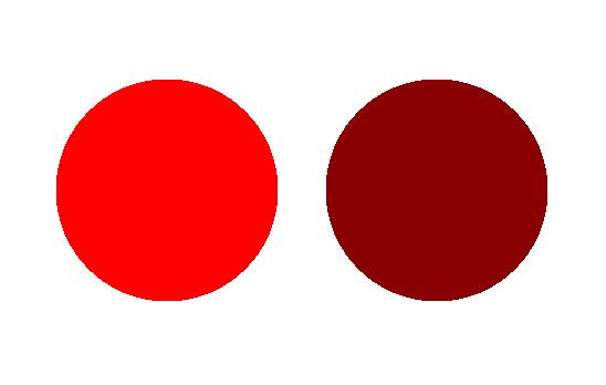色の彩度の違い